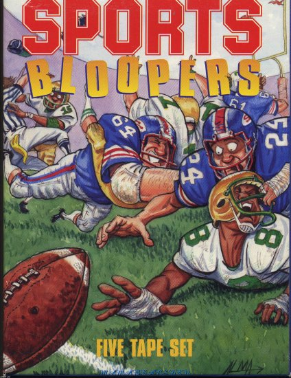 Sports Bloopers   5 Tape Boxed Set