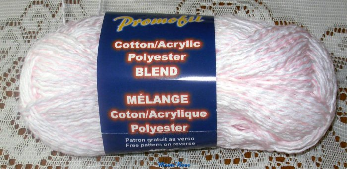 Cotton/ Acrylic Polyester Blend Yarn Light Pink