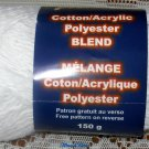 Cotton/ Acrylic Polyester Blend Yarn White