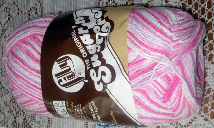Lily Sugar ' n Cream Cotton Yarn Patio Pink 12 oz Skein