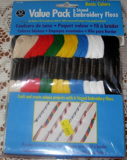 Coats Embroidery Floss Value Pack Basic Colors