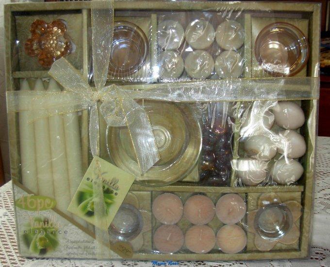 46 PC Vanilla Elegance Candle Gift Set