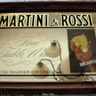 Vintage Martini & Rossi Fine Table Wines Bar Mirror