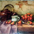 Lithograph Print Still Life with Strawberries Chailloux