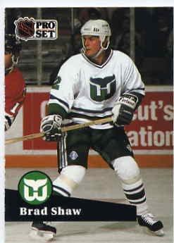 1991/92 NHL  Pro Set Hockey Card Brad Shaw #87