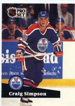1991/92 NHL  Pro Set Hockey Card Craig Simpson #69