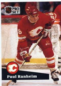 1991/92 NHL  Pro Set Hockey Card Paul Ranheim #31  Near Mint
