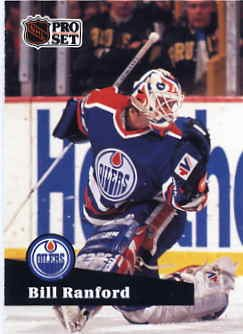 1991/92 NHL  Pro Set Hockey Card Bill Ranford #70  Near Mint