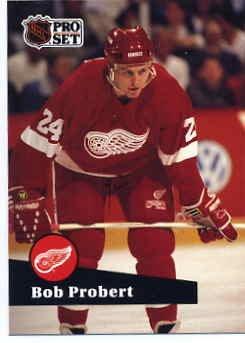 1991/92 NHL  Pro Set Hockey Card Bob Probert #61  Near Mint