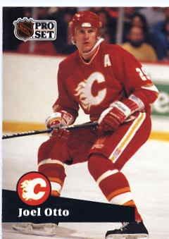 1991/92 NHL  Pro Set Hockey Card Joel Otto #37 Near Mint