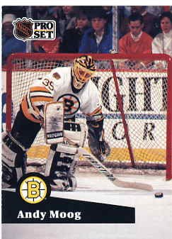 1991/92 NHL  Pro Set Hockey Card Andy Moog #10  Near Mint
