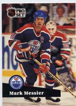 1991/92 NHL  Pro Set Hockey Card Mark Messier #74 Near Mint
