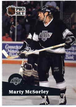 1991/92 NHL  Pro Set Hockey Card Marty McSorley #100 N/ Mint