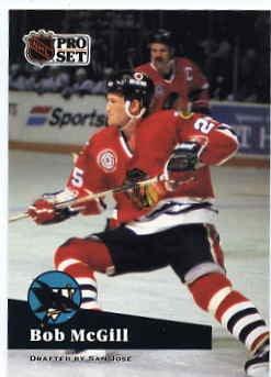 1991/92 NHL  Pro Set Hockey Card Bob McGill #47  Near Mint