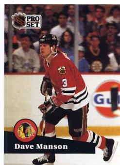 1991/92 NHL  Pro Set Hockey Card Dave Manson #41 N/Mint