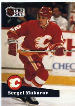1991/92 NHL  Pro Set Hockey Card Sergei Makarov #39 N/Mint