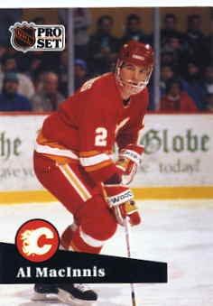 1991/92 NHL  Pro Set Hockey  Card Al MacInnis  #33 Near Mint