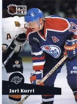 1991/92 NHL  Pro Set Hockey Card Jari Kurri #93 N/Mint