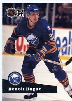 1991/92 NHL  Pro Set Hockey Card Benoit Hogue #17 Near Mint