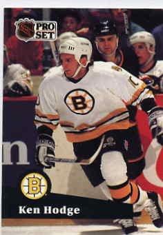 1991/92 NHL  Pro Set Hockey Card Ken Hodge #3  Near Mint