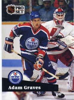 1991/92 NHL  Pro Set Hockey Card Adam Graves #67  Near Mint