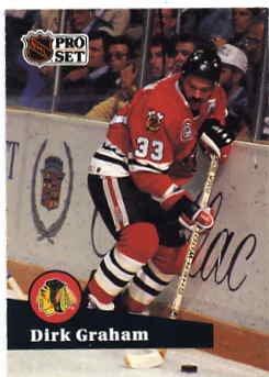 1991/92 NHL  Pro Set Hockey Card Dirk Graham #51  Near Mint