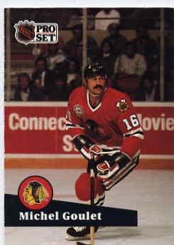 1991/92 NHL  Pro Set Hockey Card Michel Goulet #50 Near Mint