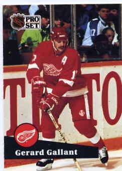 1991/92 NHL  Pro Set Hockey Card Gerard Gallant #63 N/Mint