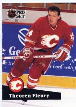 1991/92 NHL  Pro Set Hockey Card Theoren Fleuy # 28 N/Mint
