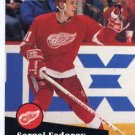 1991/92 NHL  Pro Set Hockey Card Sergei Fedorov #53 Near Min