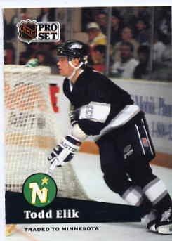 1991/92 NHL  Pro Set Hockey Card Todd Elik #94 Near Mint