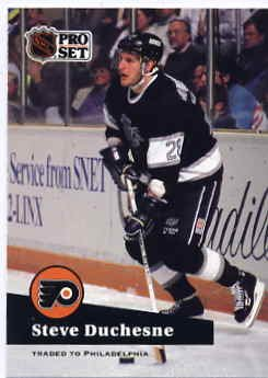 1991/92 NHL  Pro Set Hockey Card Steve Duchesne #96 Near Mint