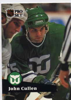 1991/92 NHL  Pro Set Hockey Card John Cullen # 85 Near Mint