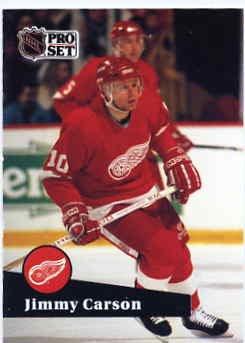 1991/92 NHL  Pro Set Hockey Card Jimmy Carson # 55 Near Mint