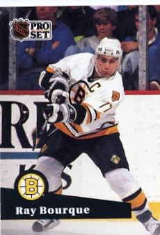 1991/92 NHL  Pro Set Hockey Card Ray Bourque # 9 N/Mint