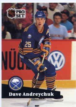 1991/92 NHL  Pro Set Hockey Dave Andreychuk # 23  Near Mint