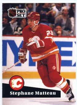 1991/92 NHL  Pro Set Hockey Card Stephane Matteau # 27