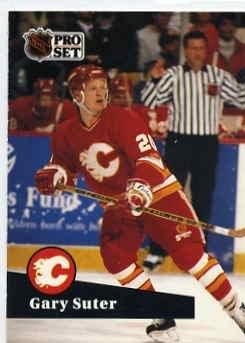 1991/92 NHL  Pro Set Hockey Card Gary Suter # 32