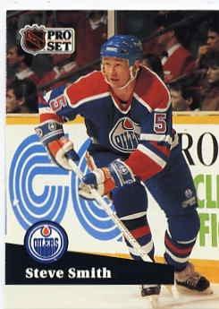 1991/92 NHL  Pro Set Hockey Card Steve Smith #73 N/Mint