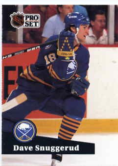 1991/92 NHL  Pro Set Hockey Card Dave Snuggerud #18 N/Mint