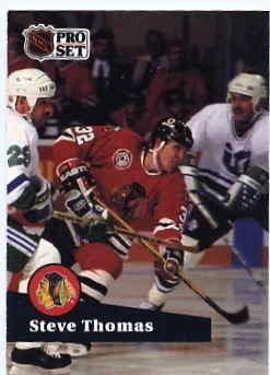 1991/92 NHL  Pro Set Hockey Card Steve Thomas #45 N/Mint