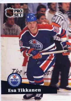 1991/92 NHL  Pro Set Hockey Card Esa Tikkanen #71