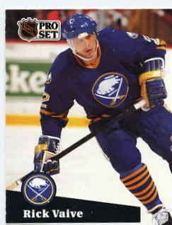 1991/92 NHL  Pro Set Hockey Card Rick Vaive #26