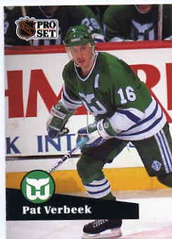 1991/92 NHL  Pro Set Hockey Card Pat Verbeek #86 N/Mint