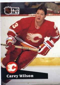 1991/92 NHL  Pro Set Hockey Card Carey Wilson #36 N/Mint