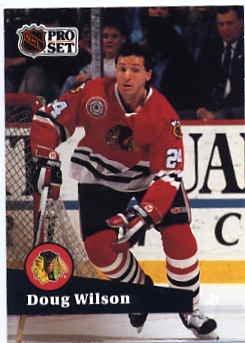 1991/92 NHL  Pro Set Hockey Card Doug Wilson #52