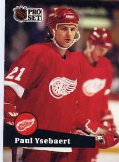 1991/92 NHL  Pro Set Hockey Card Paul Ysebaert #59 N/Mint
