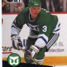 1991/92 NHL  Pro Set Hockey Card Zarley Zalapski #91  N/Mint