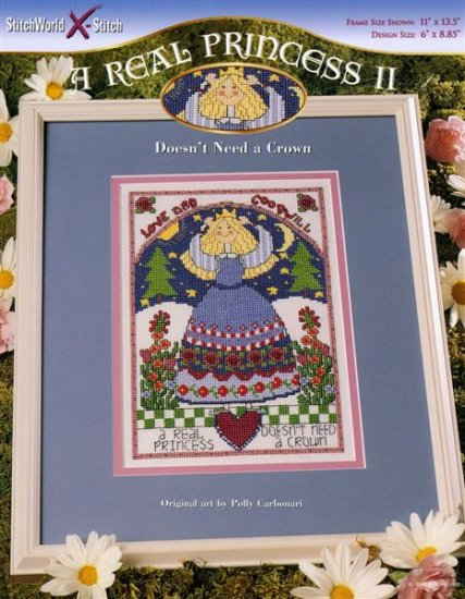 StitchWorld X-Stitch A REAL PRINCESS II  Cross Stitch Pattern Leaflet New