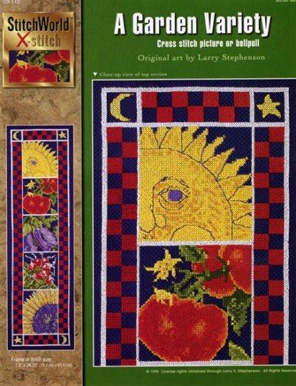 StitchWorld X-Stitch A Garden Variety Cross Stitch Pattern Leaflet New